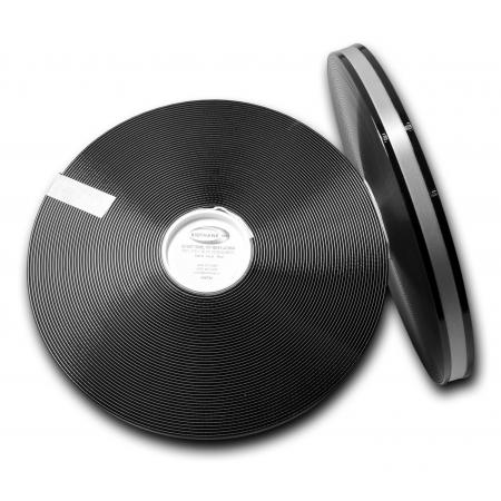 "Black 3/4"" 2Groove 101 with Silver Reflective"